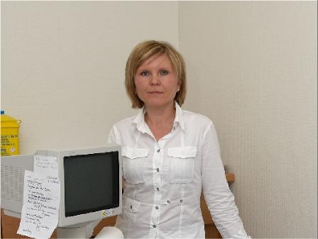 Frau Zimmermann, Bürokraft und Arzthelferin