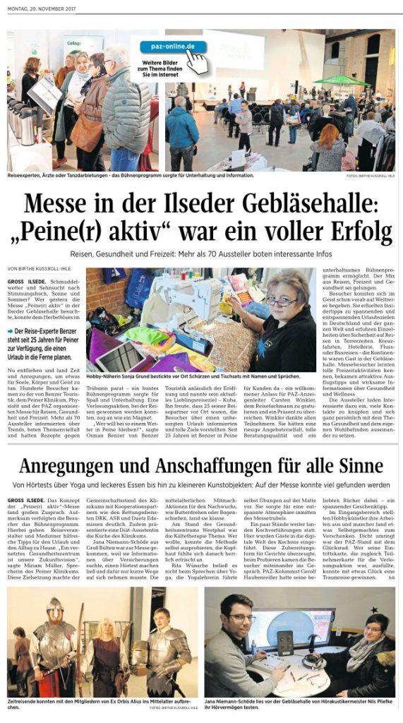 20.11.2017 Peiner Allgemeine Zeitung